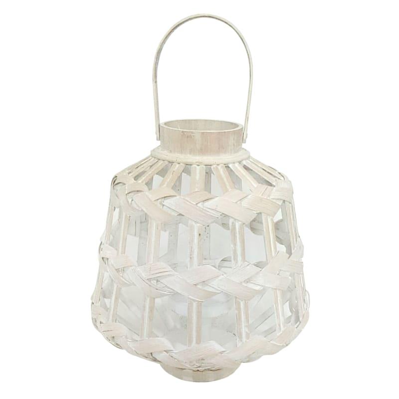 12X13 White Bamboo Lantern