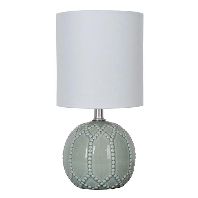 12in. Green Ceramic Mini Accent Lamp
