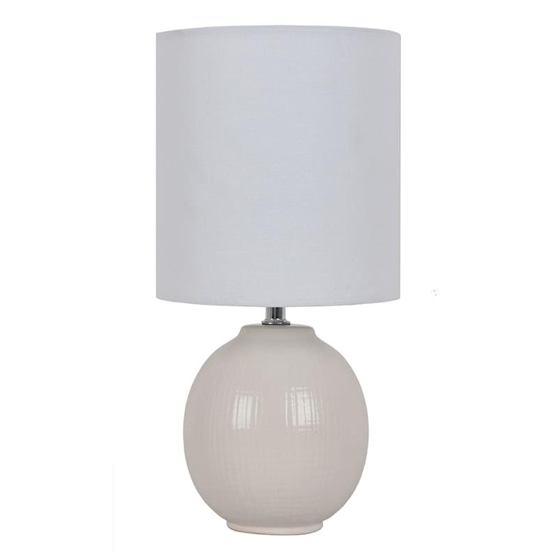 12in. White Ceramic Mini Accent Lamp