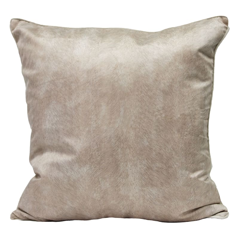 "Knox Ivory Velvet Throw Pillow, 22"""