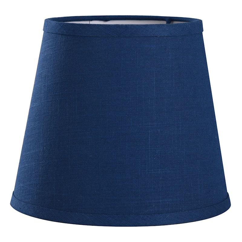 Grace Mitchell Blue Linen Blend Accent Shade, 7.5X10.5X9