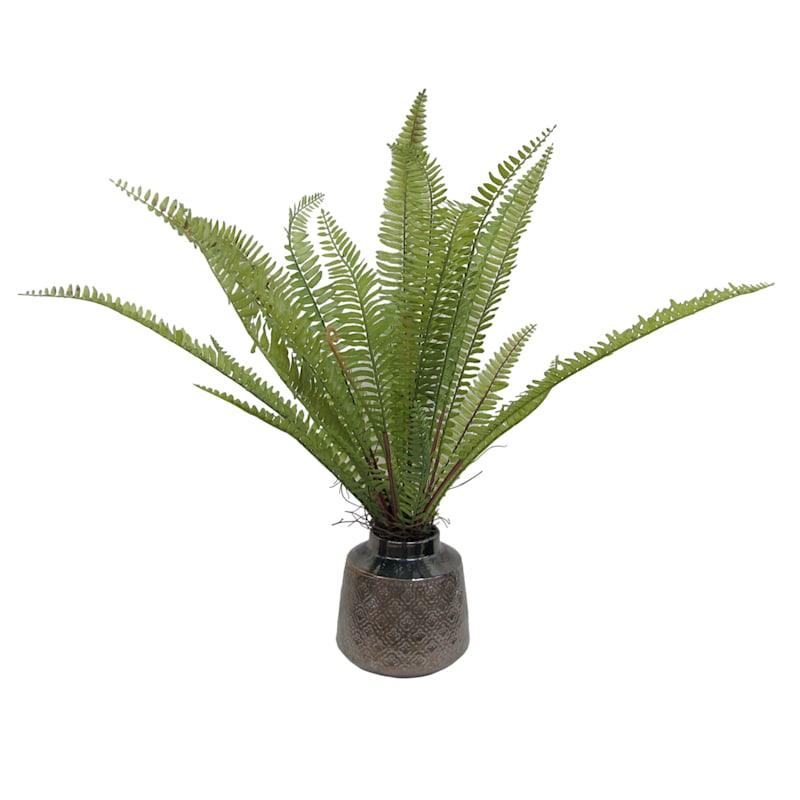 10X9 Green Fern Bronze Pot