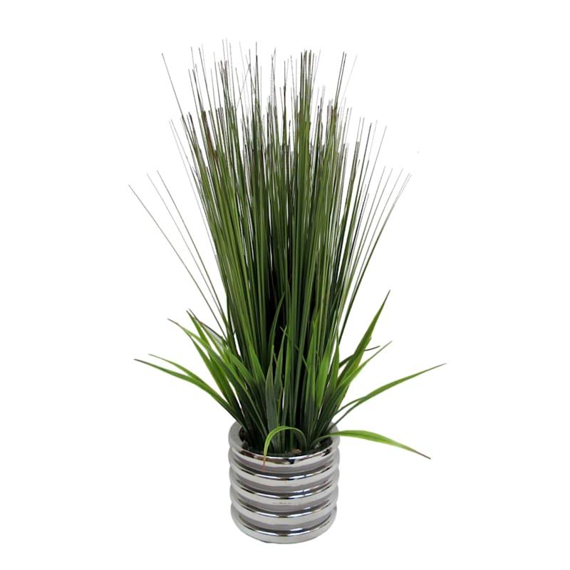 24X12 Gr Grass Silver Pot