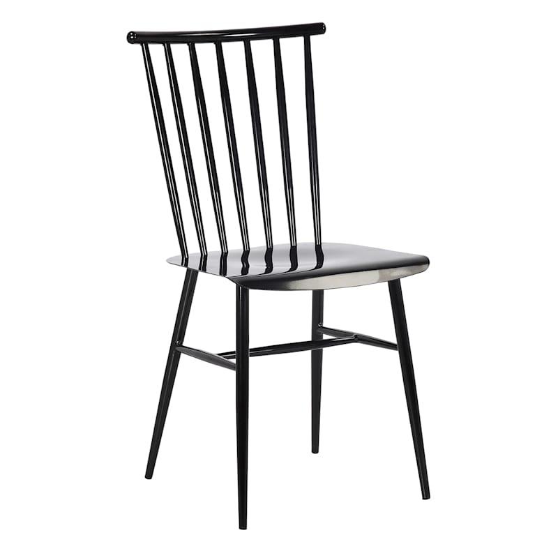 Black Spindle Metal Dining Chair