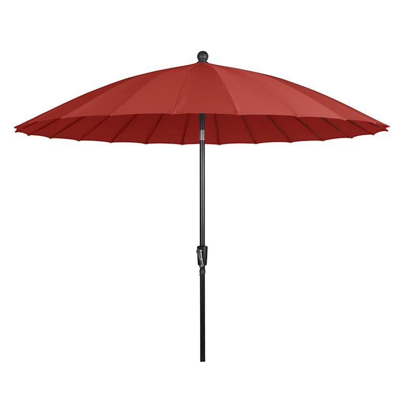 Shanghai Red Crank And Tilt Patio Umbrella, 9'