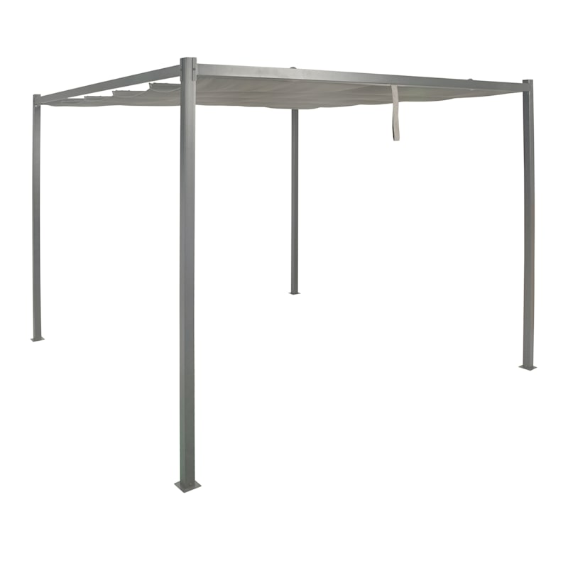 Steel Retractable Roof Pergola, 10X10