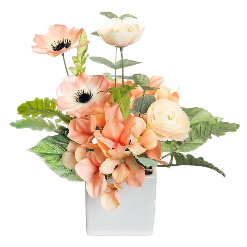 Hydrangea/Ranunculus/Rose Arrangement in Pot