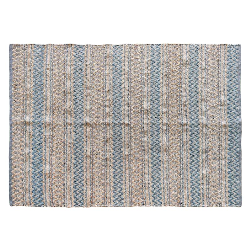 (B682) Edinburg Jute Blue, 5x7