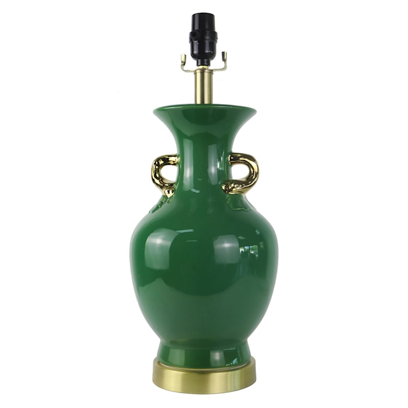 """Grace Mitchell Green Ceramic Table Lamp, 20"""""""