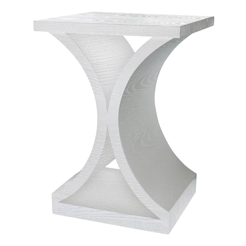 GREENWICH CURVED END TABLE WHT