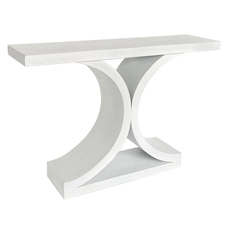GREENWICH CURVED CONSOLE WHT