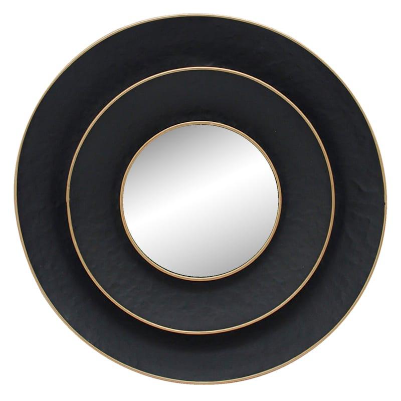 27D DBL BLACK ROUND MIRROR