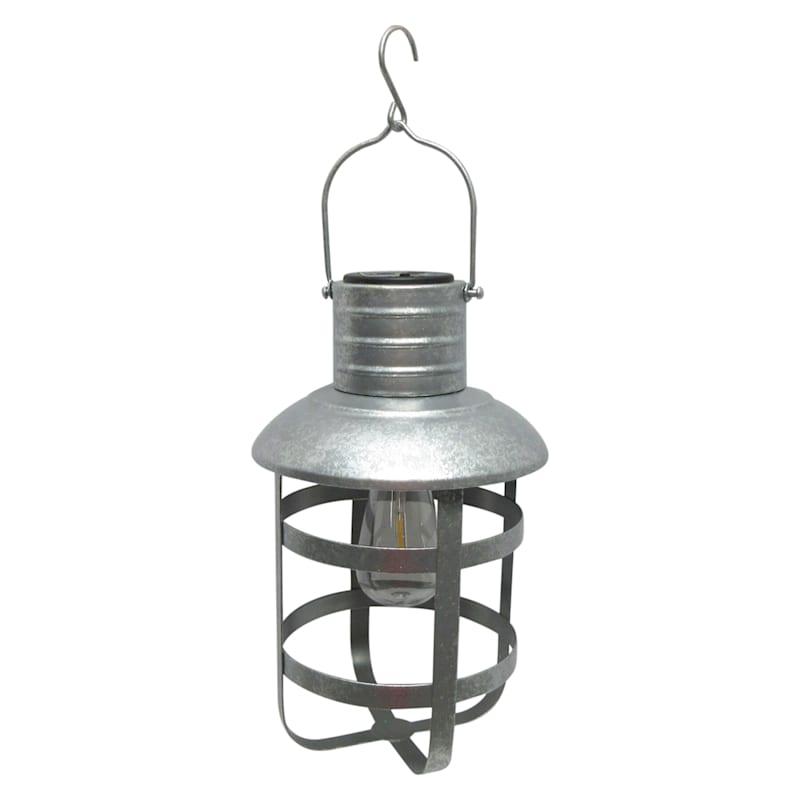 Metal Farmhouse Lantern/Edison Shaped Light Bulb/Led Filament