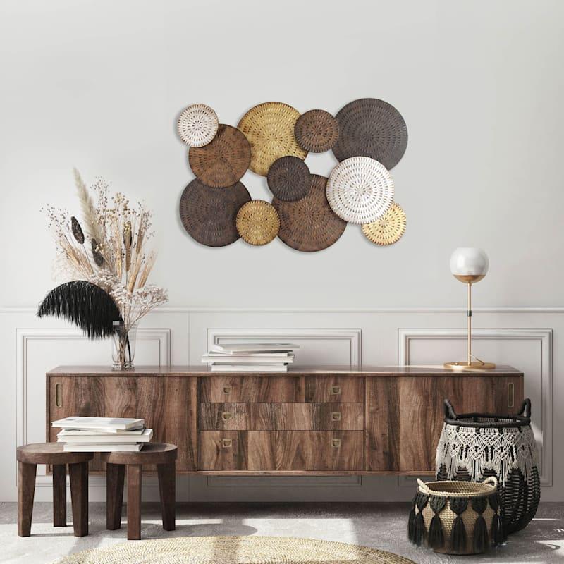 47X31 Multi Circle Metal Wall Decor Centerpiece