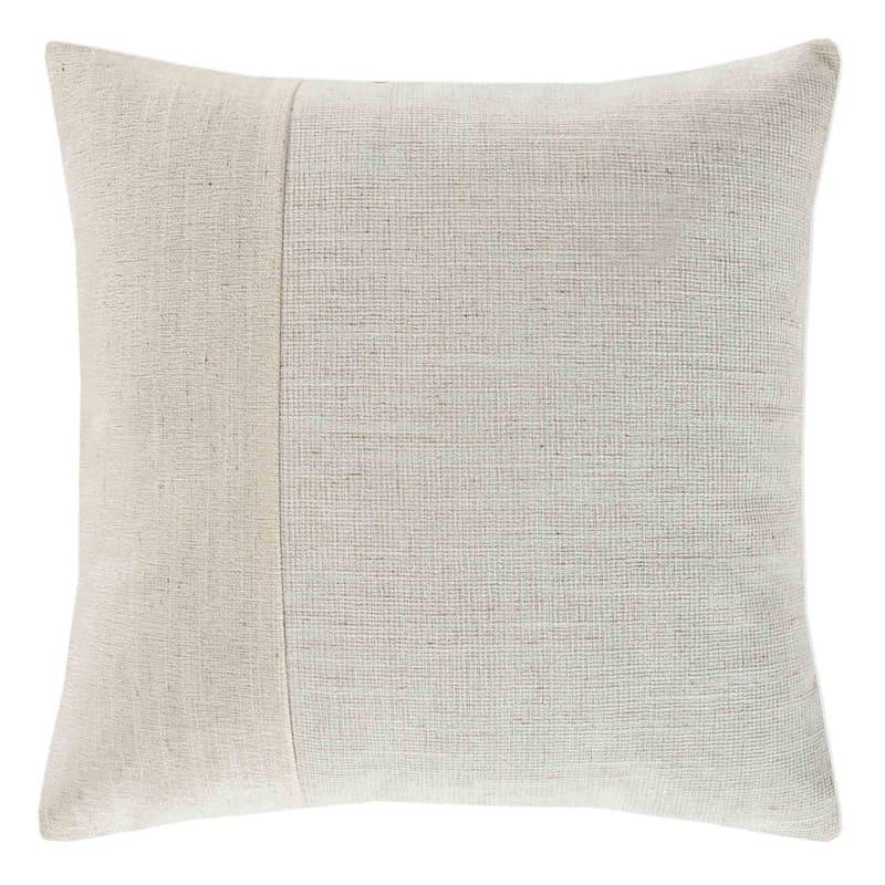Venezia Sand Textured Faux Suede Pillow 18X18