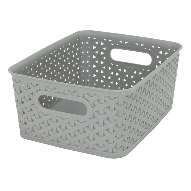 10X8 Weave Basket Gray