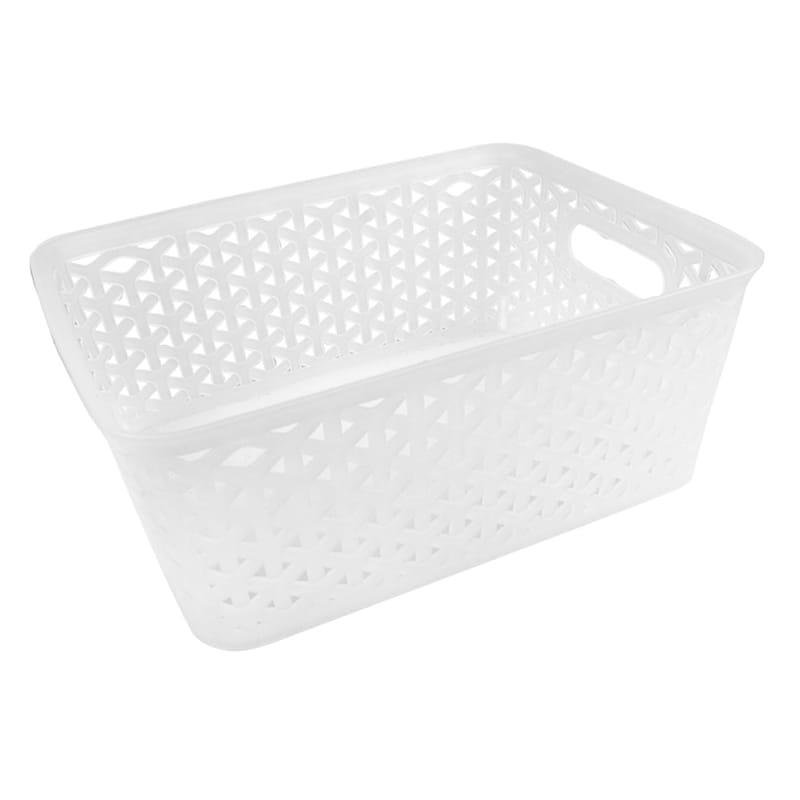 10X8 Weave Basket White