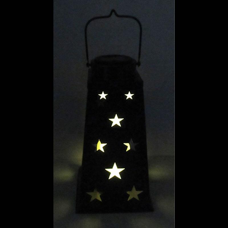 Metal Lantern/Cut Out Star Design/Solar Light