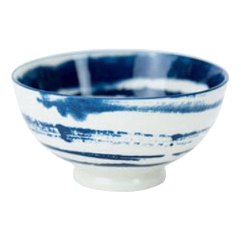 8oz Porcelain Blue/White Swirl Pattern Bowl