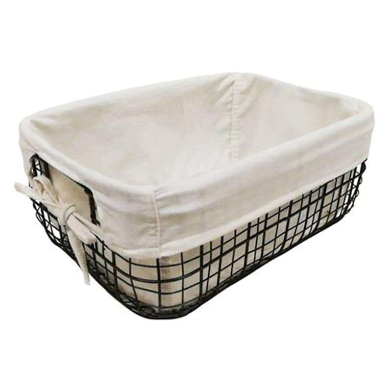Round Metal Basket W/Liner S