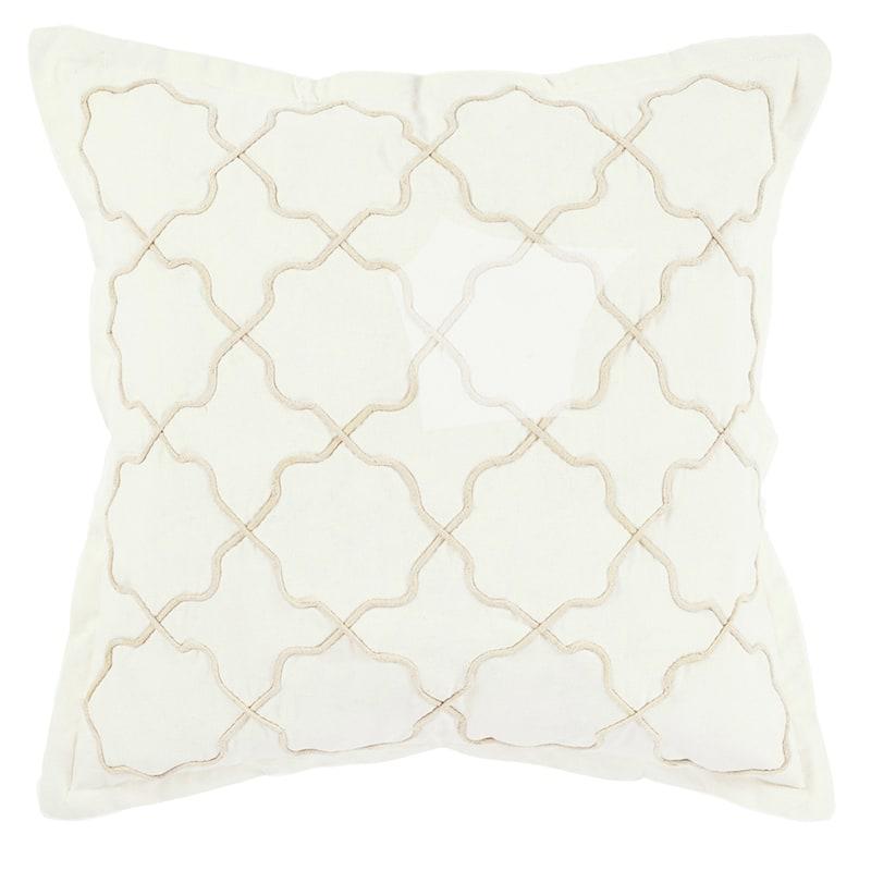 Charlie Traditional Tan Throw Pillow, 18x18