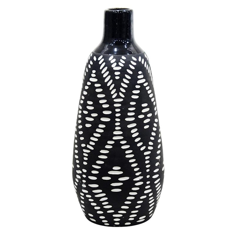 6X13 Tribal Ceramic Vase