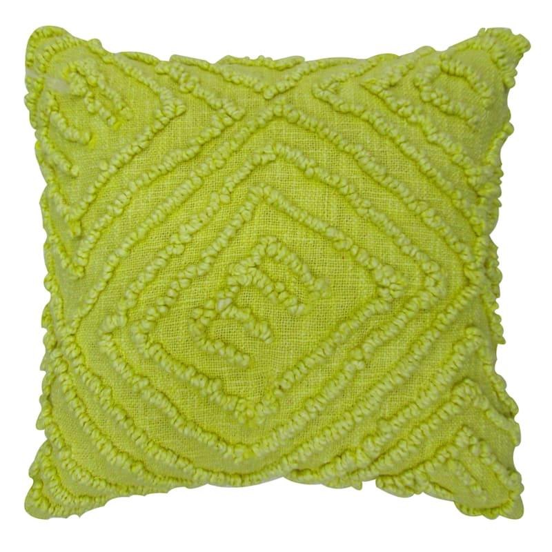 Tracey Boyd Yellow Acid Wash Throw Pillow
