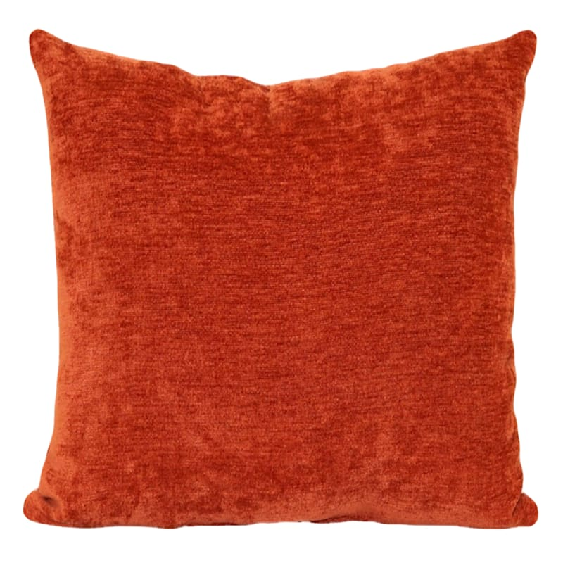 """Reese Rust Chenille Throw Pillow, 18"""""""