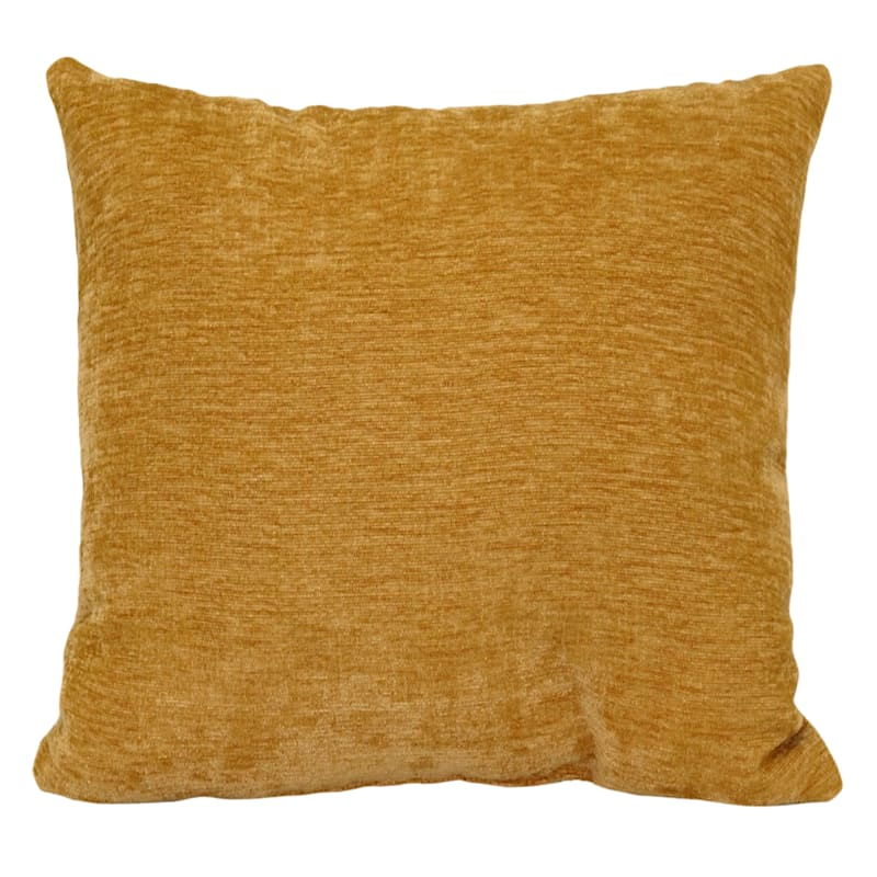 """Reese Gold Chenille Throw Pillow, 18"""""""
