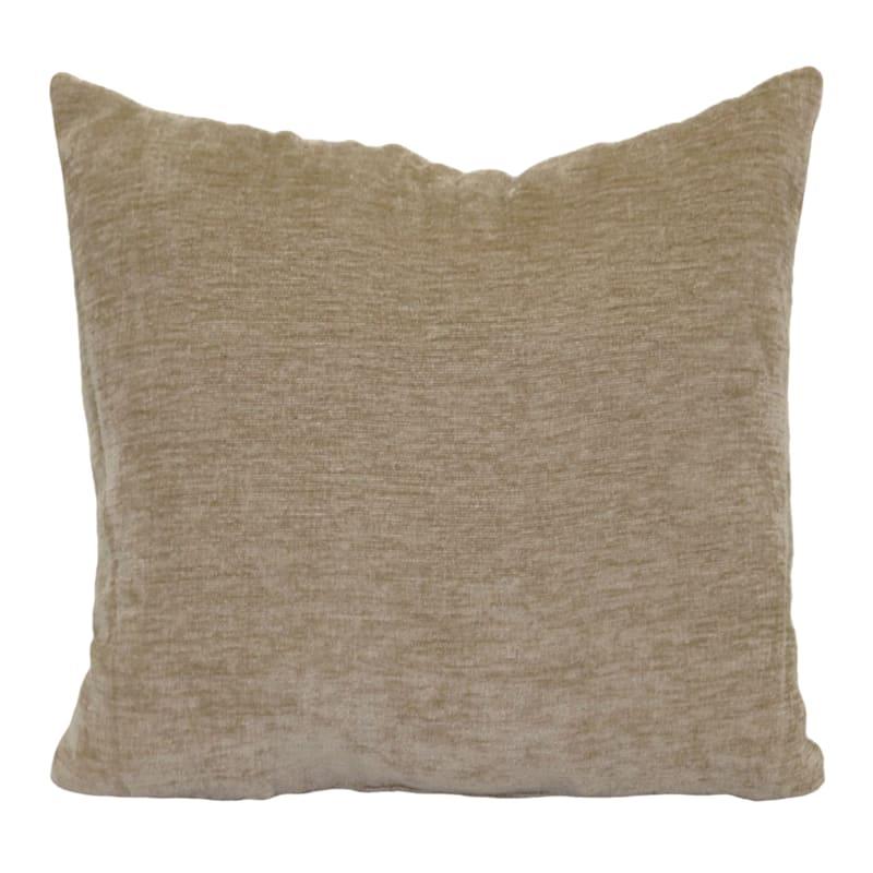 """Reese Linen Chenille Throw Pillow, 18"""""""