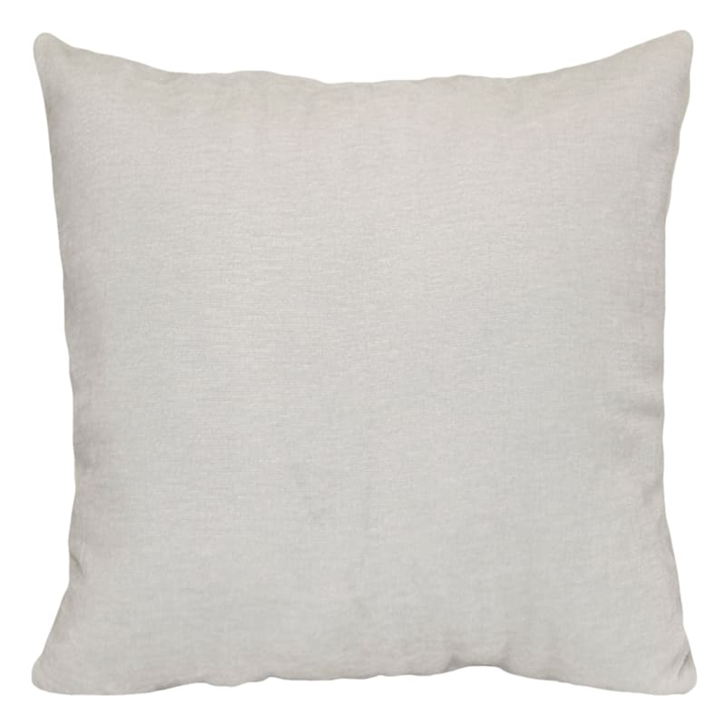 """Reese Ivory Chenille Throw Pillow, 18"""""""