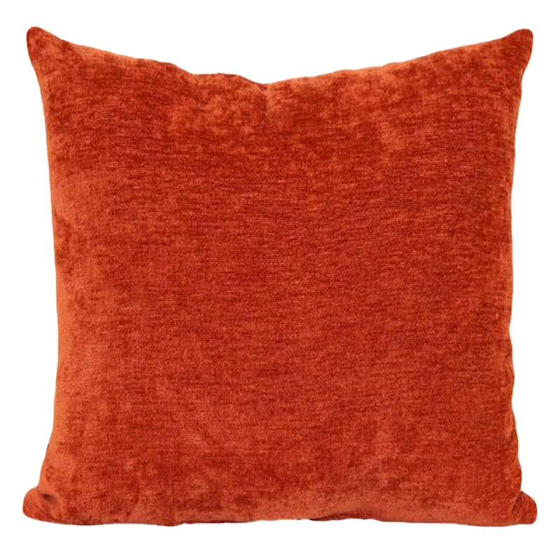 """Reese Rust Chenille Throw Pillow, 24"""""""