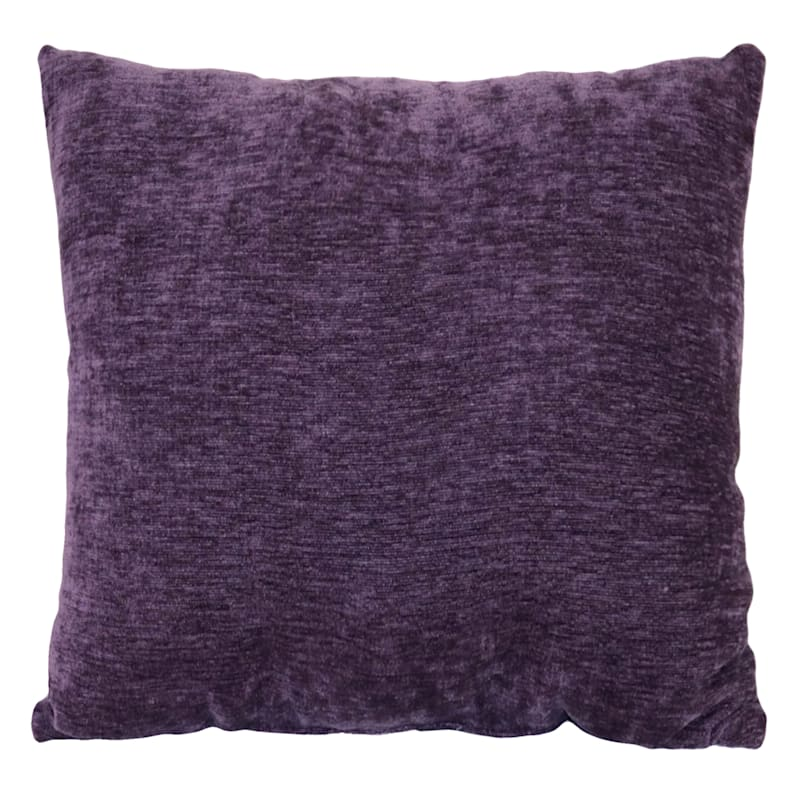 """Reese Purple Chenille Throw Pillow, 24"""""""