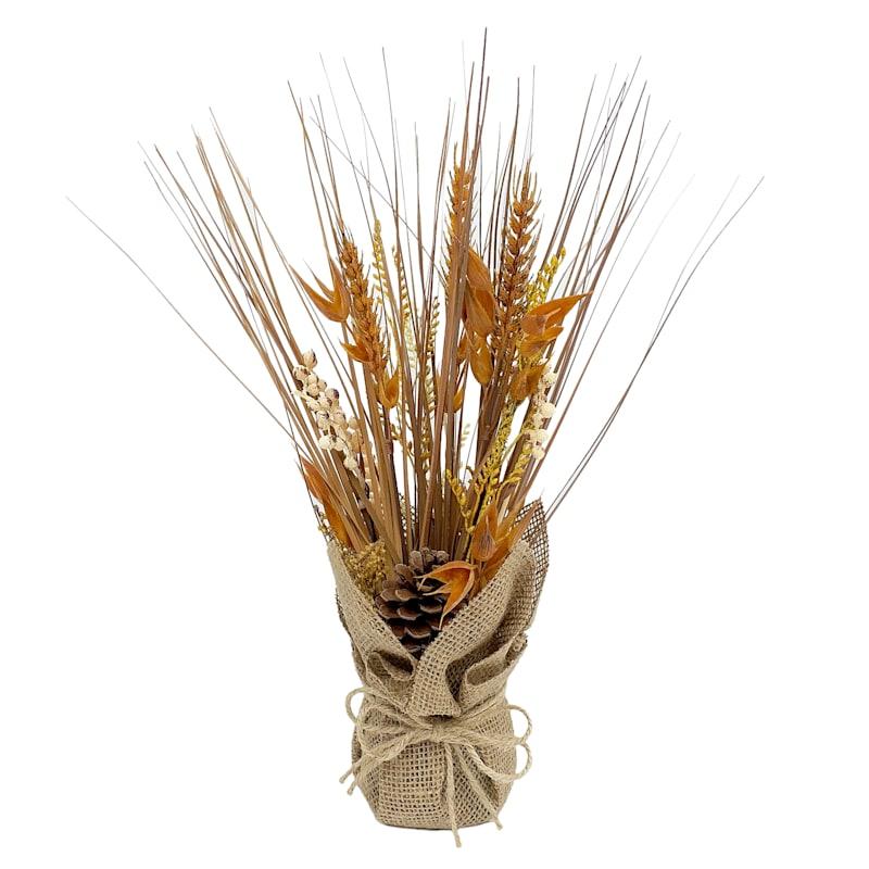 FALL GRASS IN BURLAP POT ORG