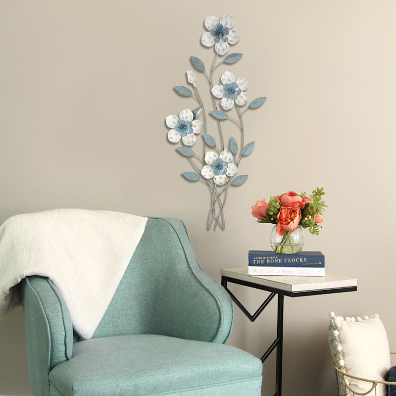 17X36 Metal Flower Stem Wall Decor