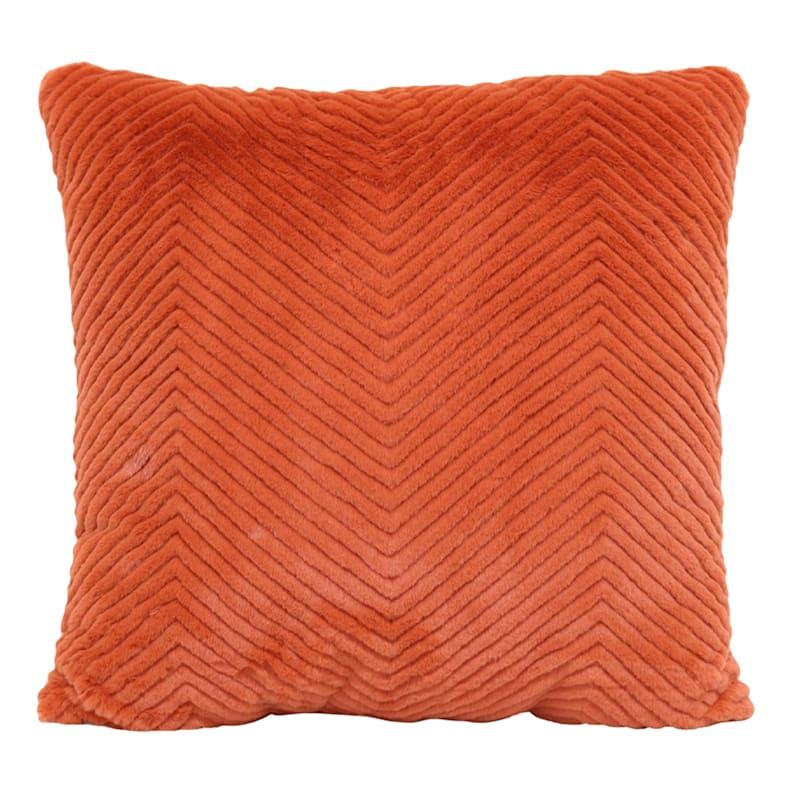"""Cheviot Orange Throw Pillow, 18"""""""