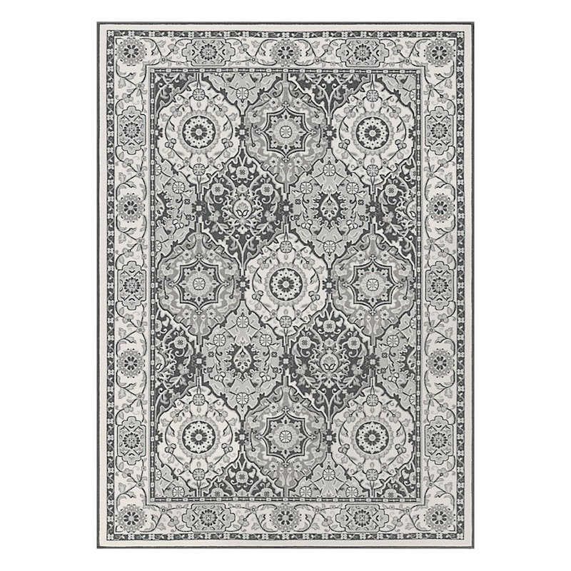 (D409) Traditional Oriental Pattern Classic Panel Design Area Rug, 5x7