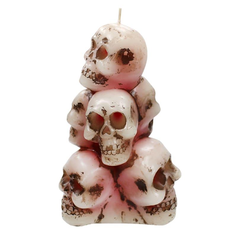 Bleeding Skull Stack Candle