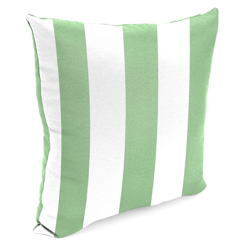 """Aloe Awning Stripe Outdoor  Square Pillow, 16"""""""