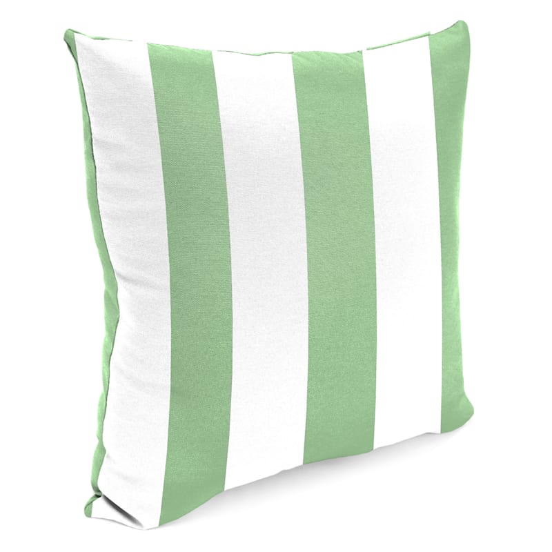 """Aloe Awning Stripe Outdoor Square Pillow, 20"""""""