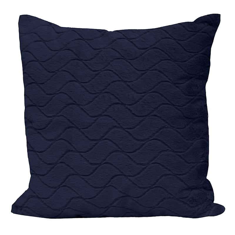 """Sweeny Blue Throw Pillow, 24"""""""