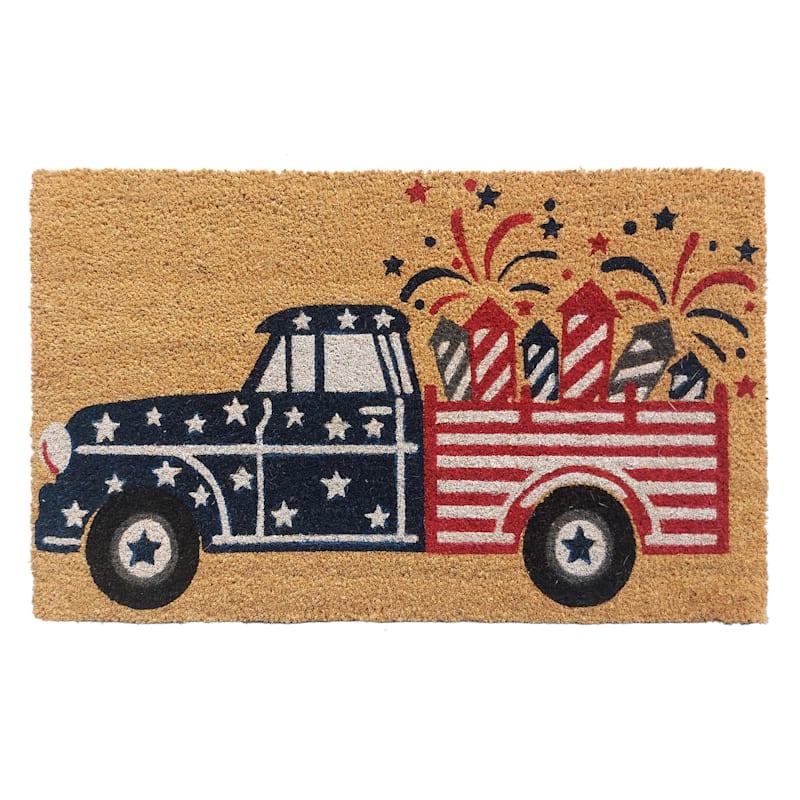 Fireworks Truck Coir Door Mat 18X30