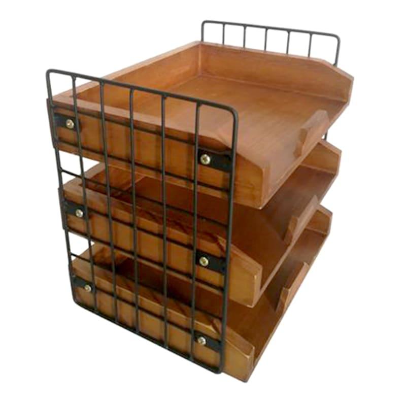3-Tier Desk Organizer/Metal Grid
