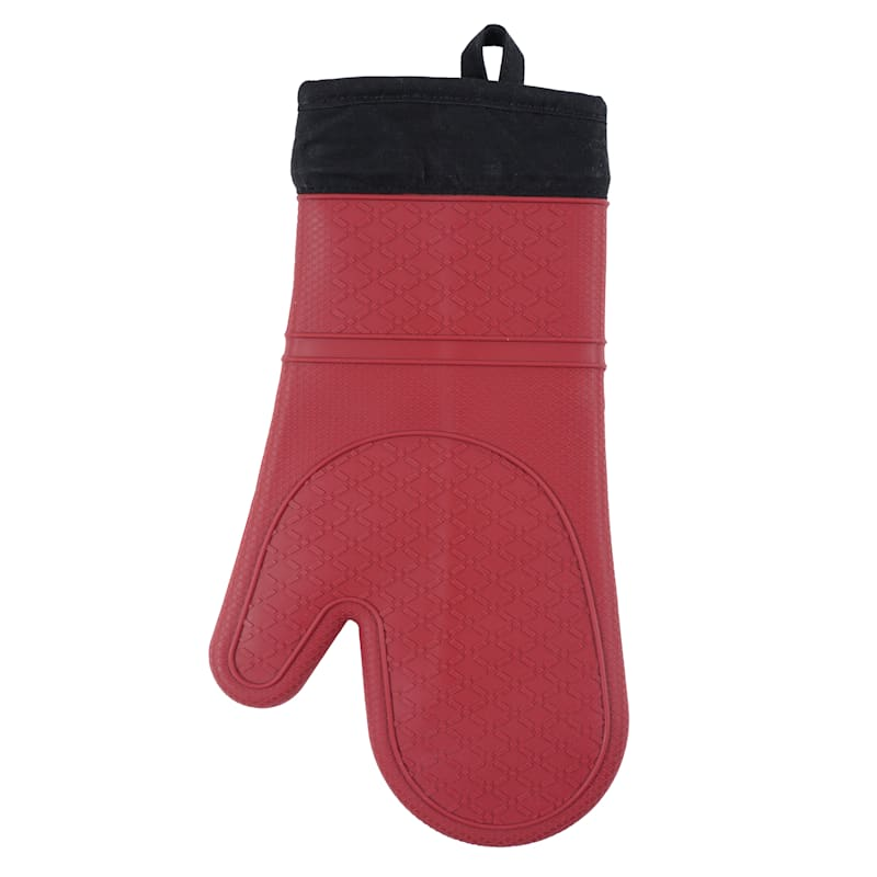 SILICONE OVEN MITT RED