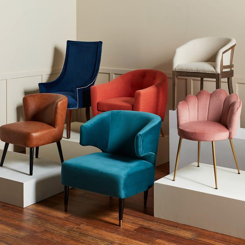 Chatham Blue Velvet Accent Chair