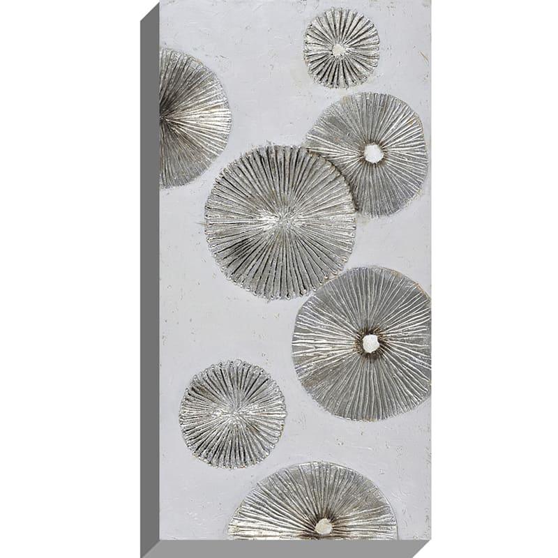 24X48 Silver Metallic Enhanced Canvas
