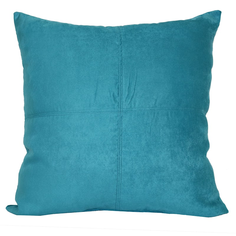 Turquoise Heavy Faux Suede Oversized Pillow 24X24