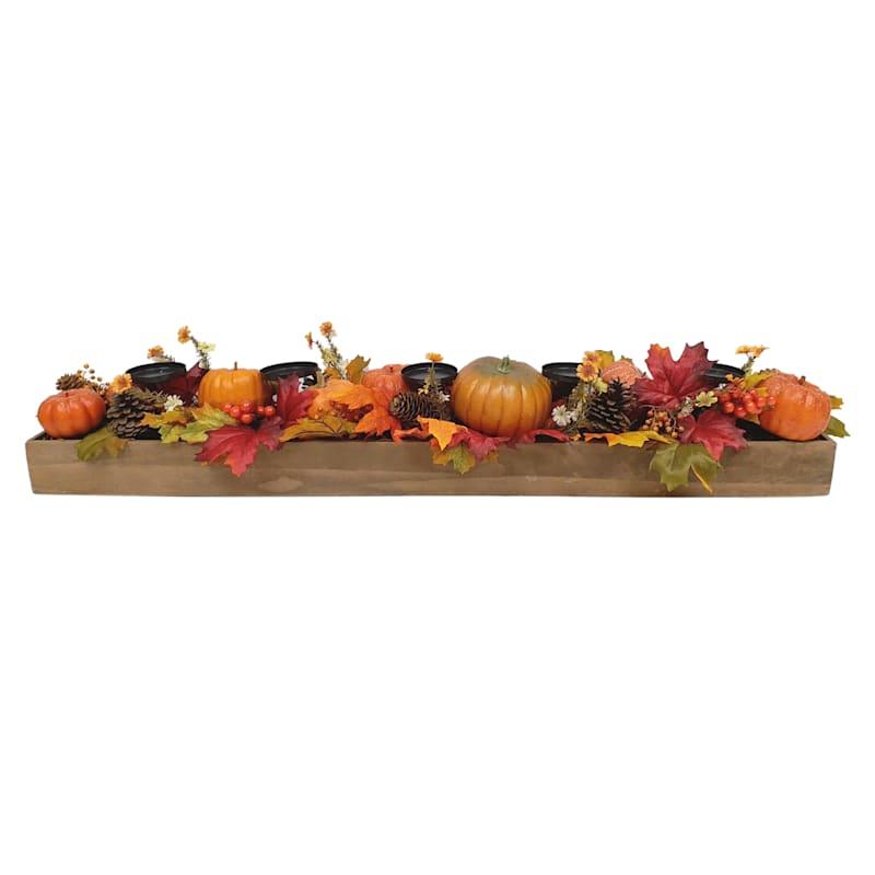 "Pumpkin & Maple Candle Centerpiece, 36"""