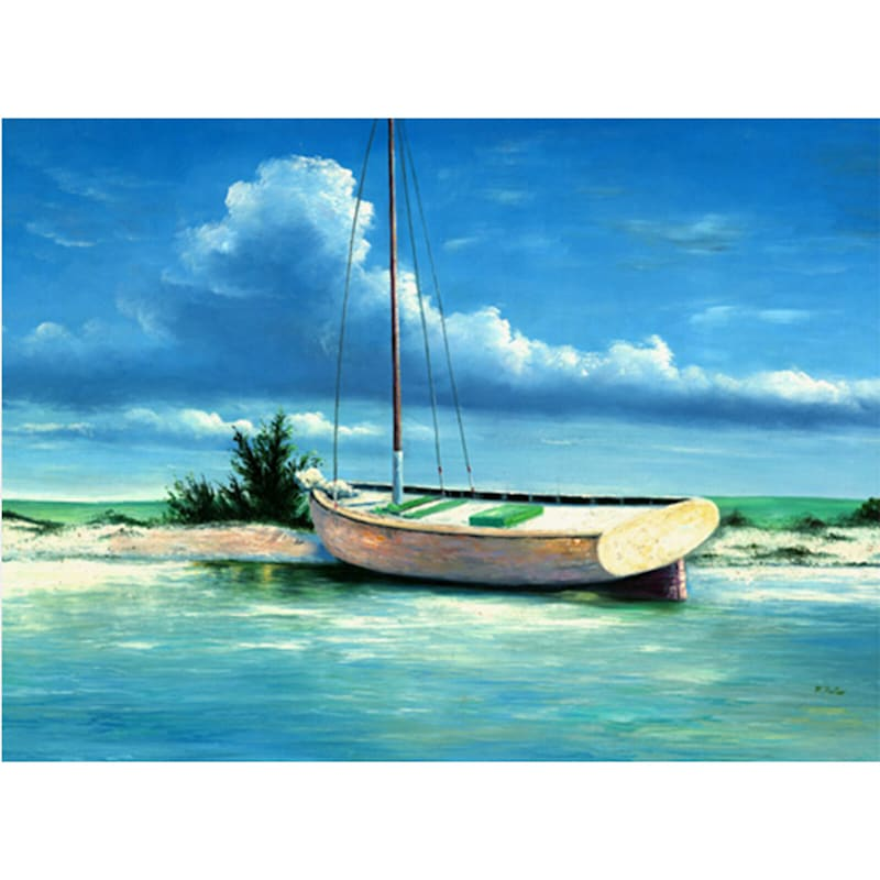 24X36 Beached Boat Canvas