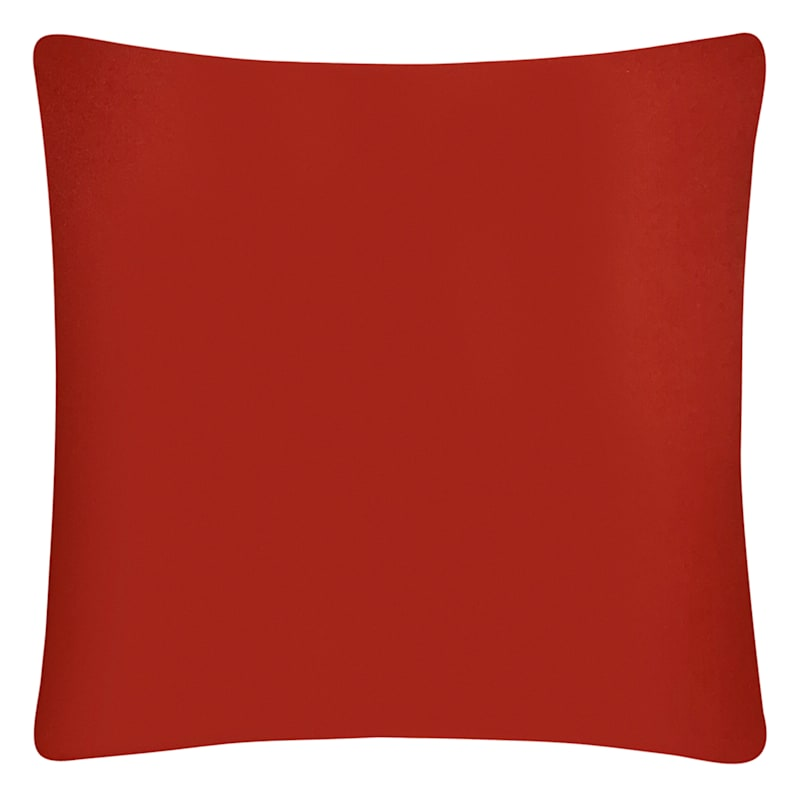 Red Solid Color Pillow 18X18